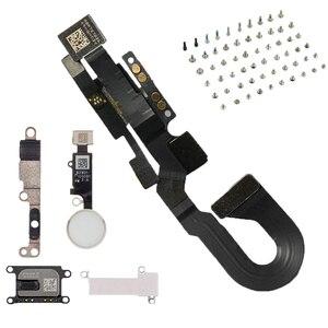 Image 1 - 6 sztuk/zestaw dla iPhone8 8 Plus pełny zestaw śruby + przycisk home klucz + głośnik do ucha + z przodu przewód do aparatu kabel + wspornik metalowy