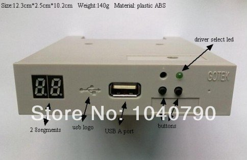 Free shipping 3 5 SFR1M44 FU USB SSD Floppy Drive GOTEK Emulator for Embroidery Machine
