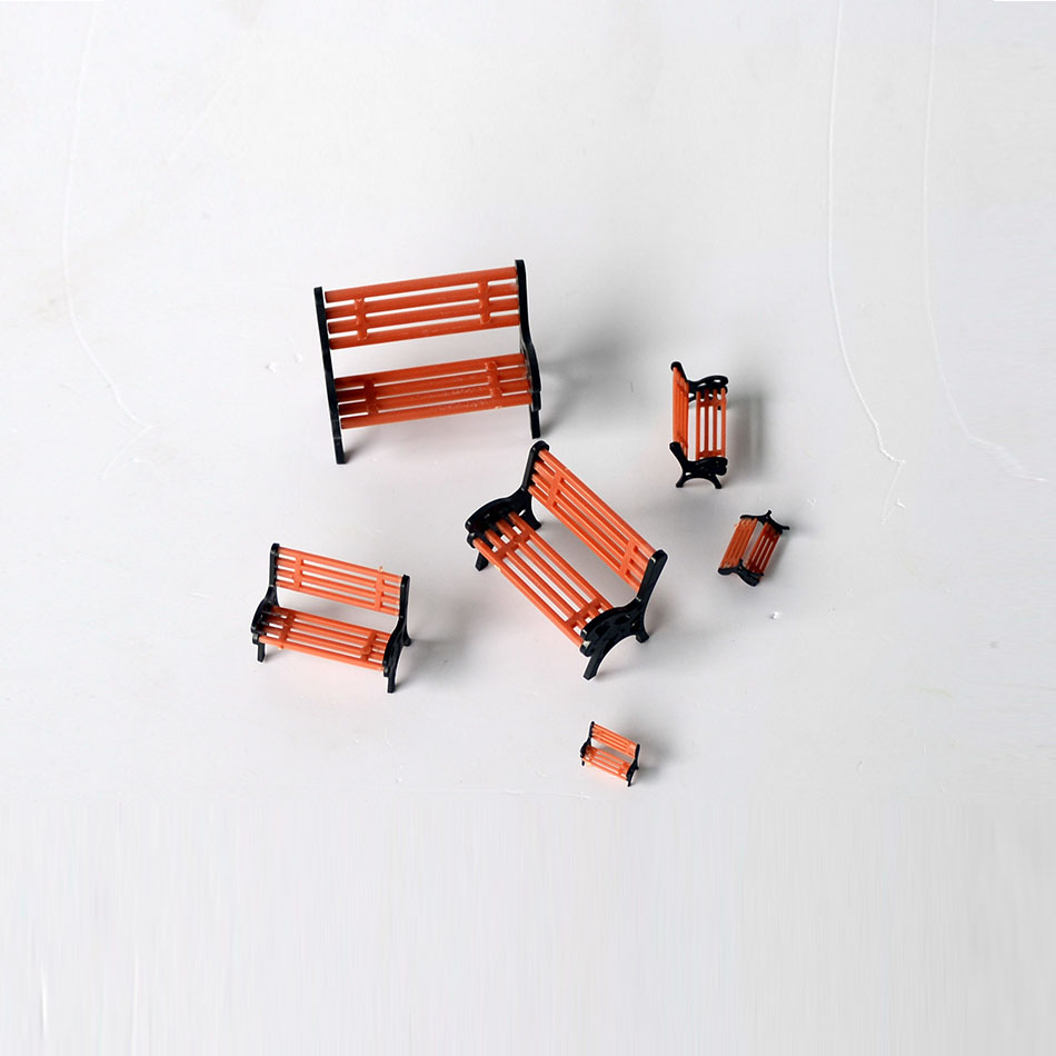 HO N OO SCALE Model Chair For Garden Platform Park Street Seats Architectural Train Making Bench Chair Diorama Layout Plastic