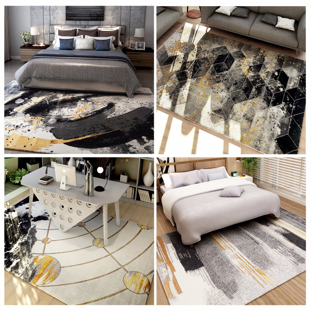 Nordic Light luxury custom home living room carpet bedroom study bedside Sofa coffee table non-slip Hotel elevator big carpet