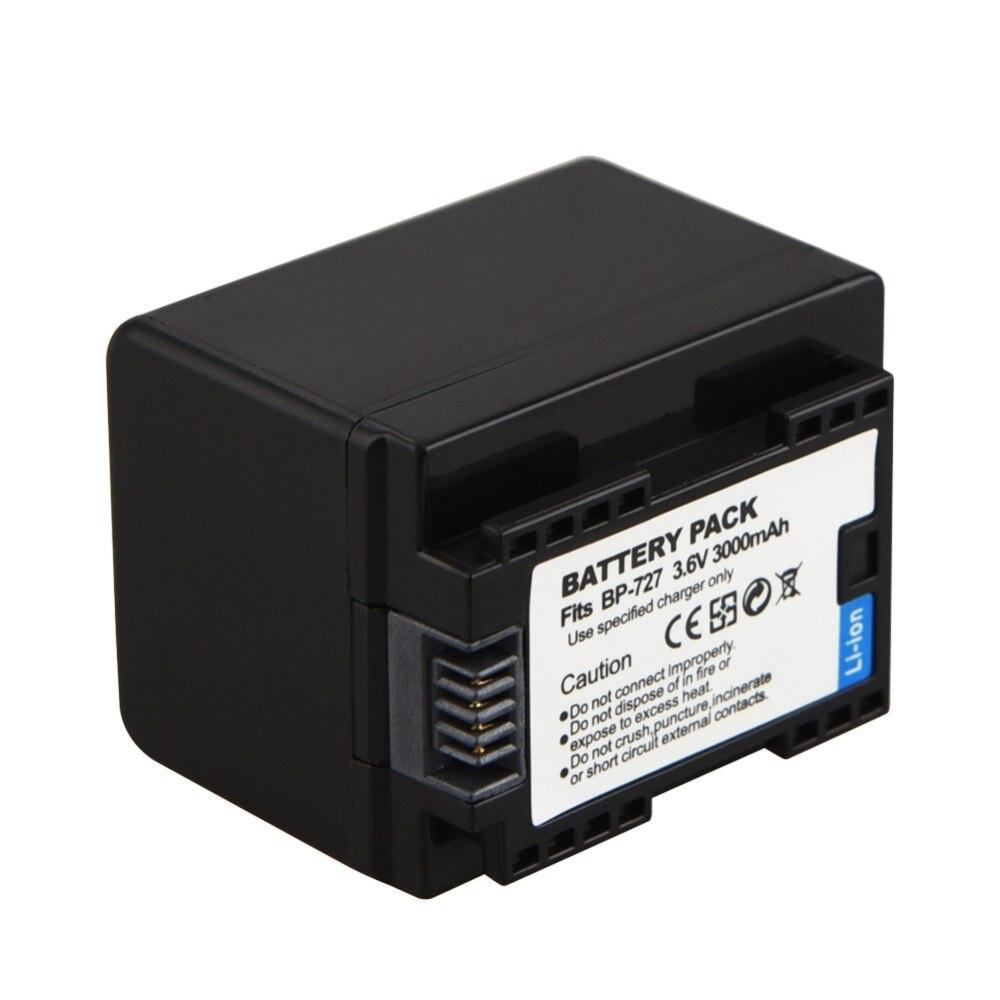 1 pc 3000 mAh BP-727 BP 727 BP727 Bateria para Canon VIXIA HF R30 M50 500 M52 M56 M506 R36 R38 R306 R30032 R600 R400 R500 R60 R62