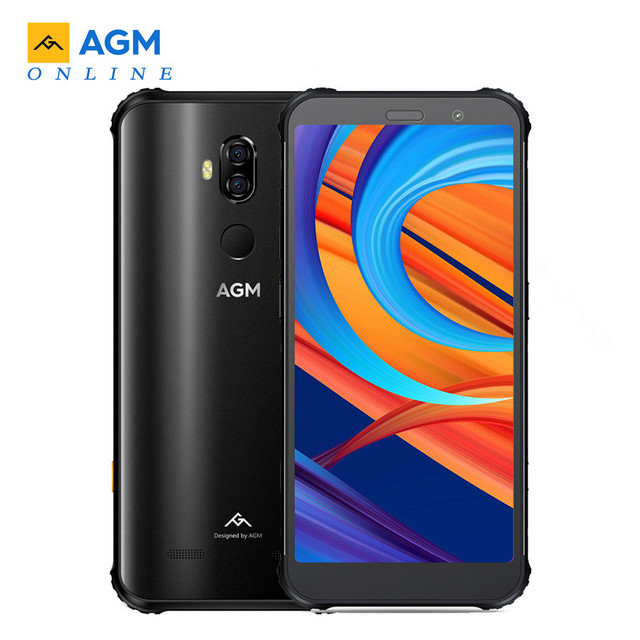 "Original AGM X3 Smartphone 8GB 128GB Android 8.1 Snapdragon 845 5.99"" Rear 12MP+24MP Front 20MP Camera Fingerprint NFC Cellphone"
