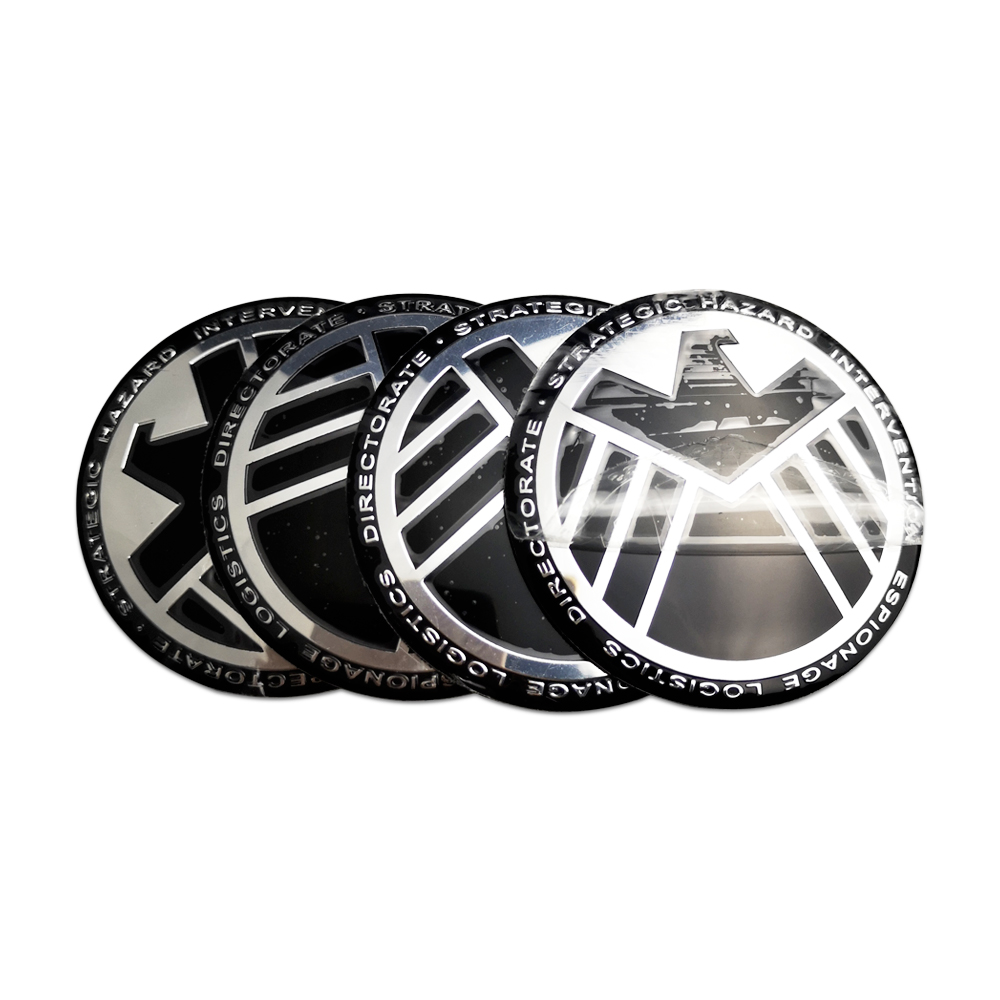 Car Wheel Center Badge Decal for Skoda Subaru Toyota Volvo Volkswagen Smart Chery Aluminum Alloy Shield Sticker Auto Decoration in Car Stickers from Automobiles Motorcycles