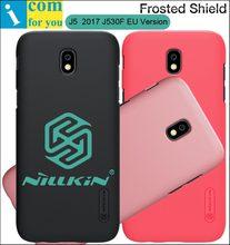 Nillkin матовый чехол для Samsung Galaxy J5 2017 J530F Назад Жесткий Пластиковый защитной оболочки щита + Экран фильм
