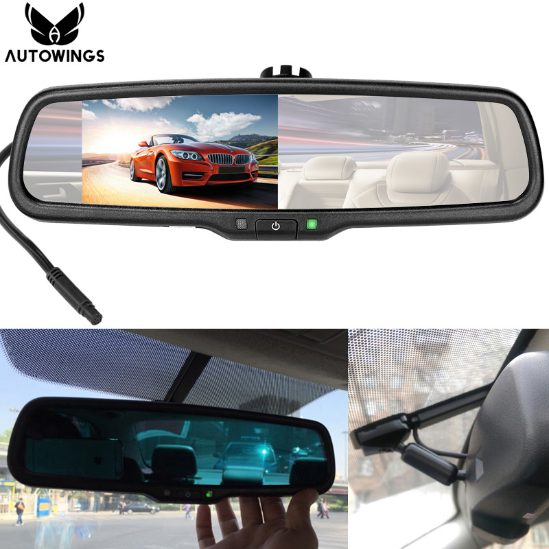 4 3 inch auto dimming car parking rearview mirror monitor. Black Bedroom Furniture Sets. Home Design Ideas