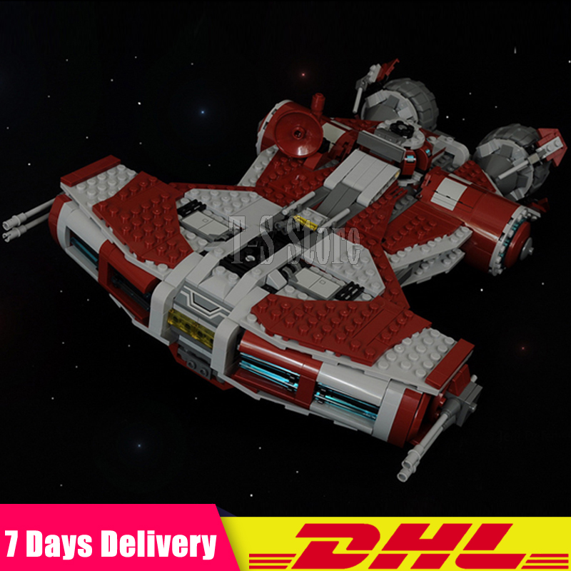 DHL IN Stock LEPIN 05085 Star 1192PCS Wars Jedi Defender Class Cruiser Space Ship Building Blocks Bricks Set DIY Toys Fit 75025 8 in 1 military ship building blocks toys for boys