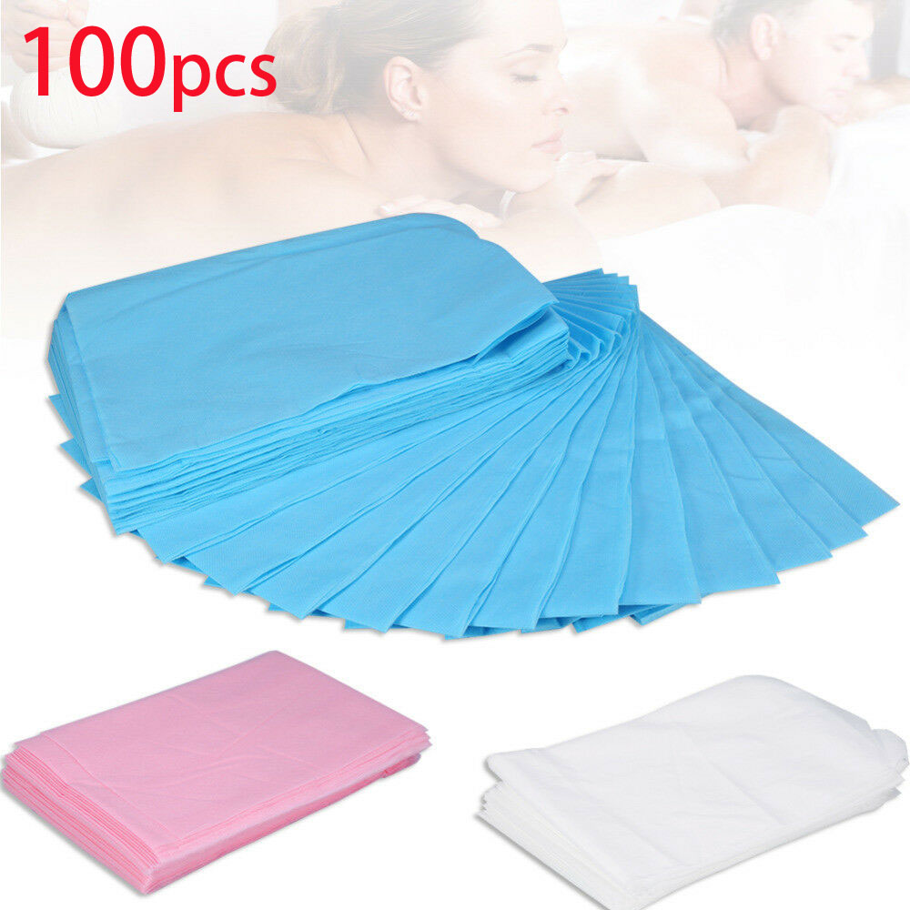 100pcs Disposable Massage Beauty Waterproof Bed Table Cover Sheets Cushion 80 X 180cm Pink Blue White