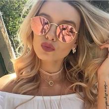 2019 Fashion Oval Sunglasses Women Brand Designe Small Metal Frame Steampunk Retro Sun Glasse  Mirror Oculos De Sol Gafas UV400