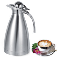 1 5L Stainless Steel Double Wall Vacuum Thermos Coffee Pot Thermal Insulated Flask Hot Cold Keeping
