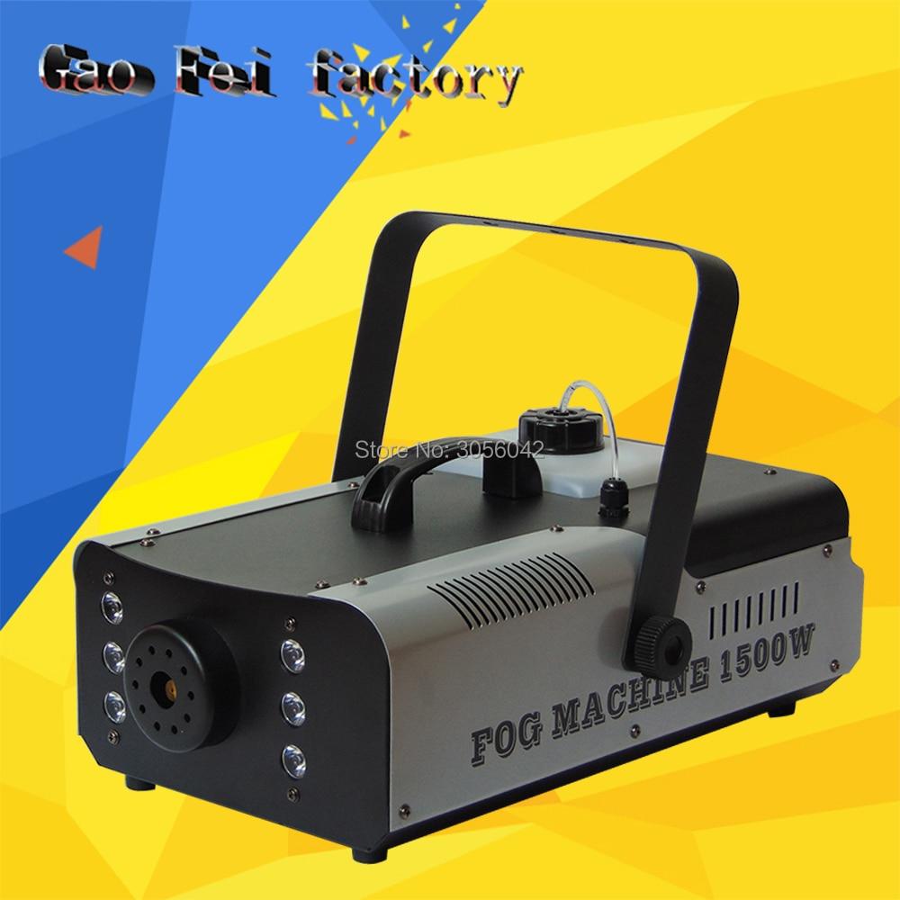 Carton Package 1500W Remote Control Fog Machine Dj Disco Laser Smoke Machine Wedding Party Stage Lampblack Equipment
