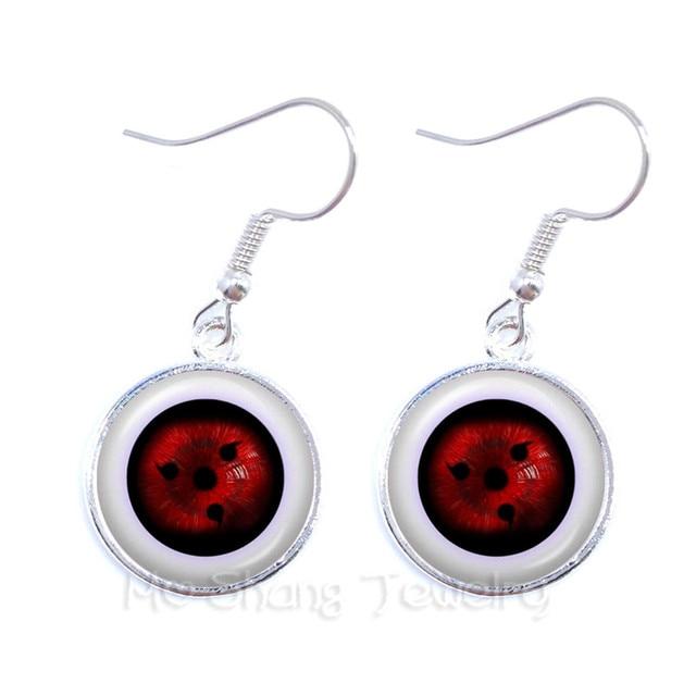 fashion anime rinnegan eyes earrings naruto sharingan eye drop