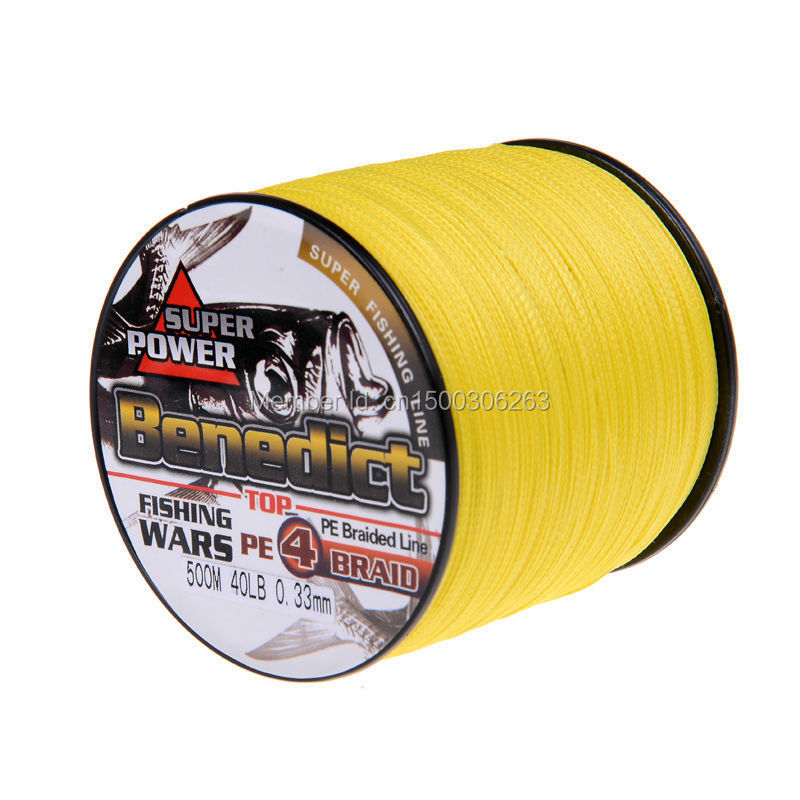 Buy wuhe brands 500m yellow multifilament for 20 lb braided fishing line