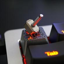 1 Pc Holyoops 3D Titanium Legering Key Cap Alle Metalen Doorschijnend Mechanische Toetsenbord Keycaps Voor Quake