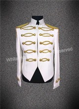 latest hot selling nightclub suit shining men stage suit jacket made in China discount men clubwear