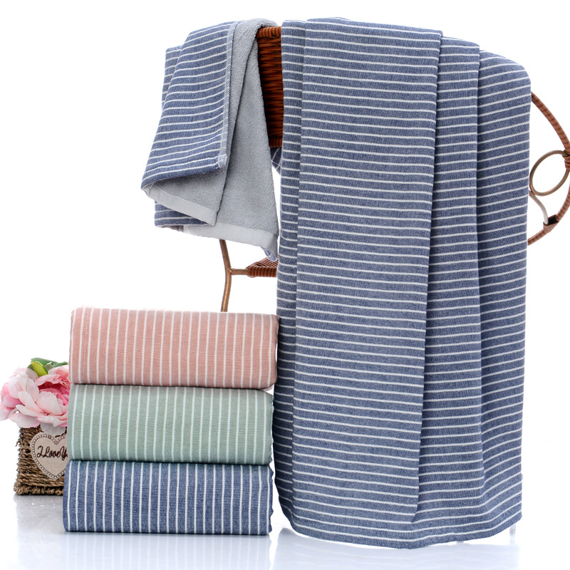 Gao Yang cotton towel the launch date of the new system gauze comfortable home big towel bath towel adult couples