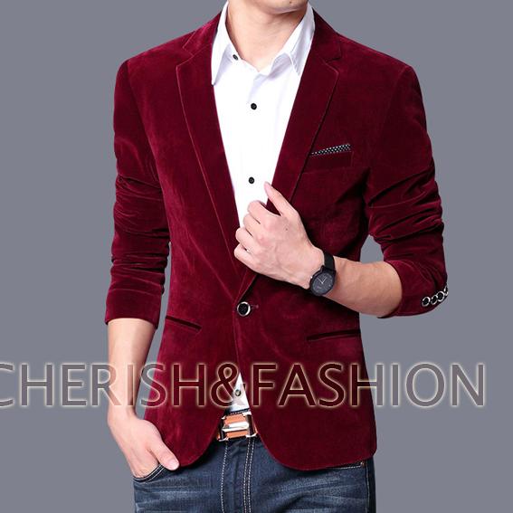 2017 spring autumn outwear coat Mens blazer