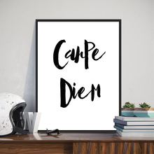 Modern Simple Style Canvas Art Print Painting Poster Of Quote Carpe Diem,Unframed Wall Picture for Home Decoration,LZ987