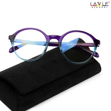 2018 New Design Handmade Acetate Glasses Fashion Colors EyeWear Frames for Young Women Girls Round Luxury Spectacle Prescription