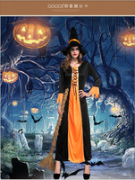 Halloween Costumes Hoodie Witch Costume Women Long Dress Cosplay Clothes Women 2017 Victorian Halloween Costumes