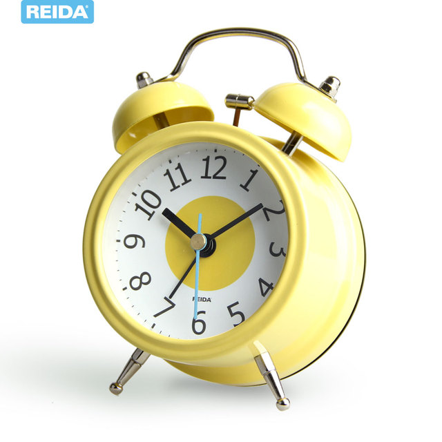 Gentil Fashion Rustic Clock Cute Led Alarm Clock Alarum Luminous Table Clock Small  Night Light Digital Alarm
