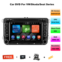 In Dash 2 Din 7 Inch Octa Core Android Vw Car Dvd For Polo Jetta Tiguan