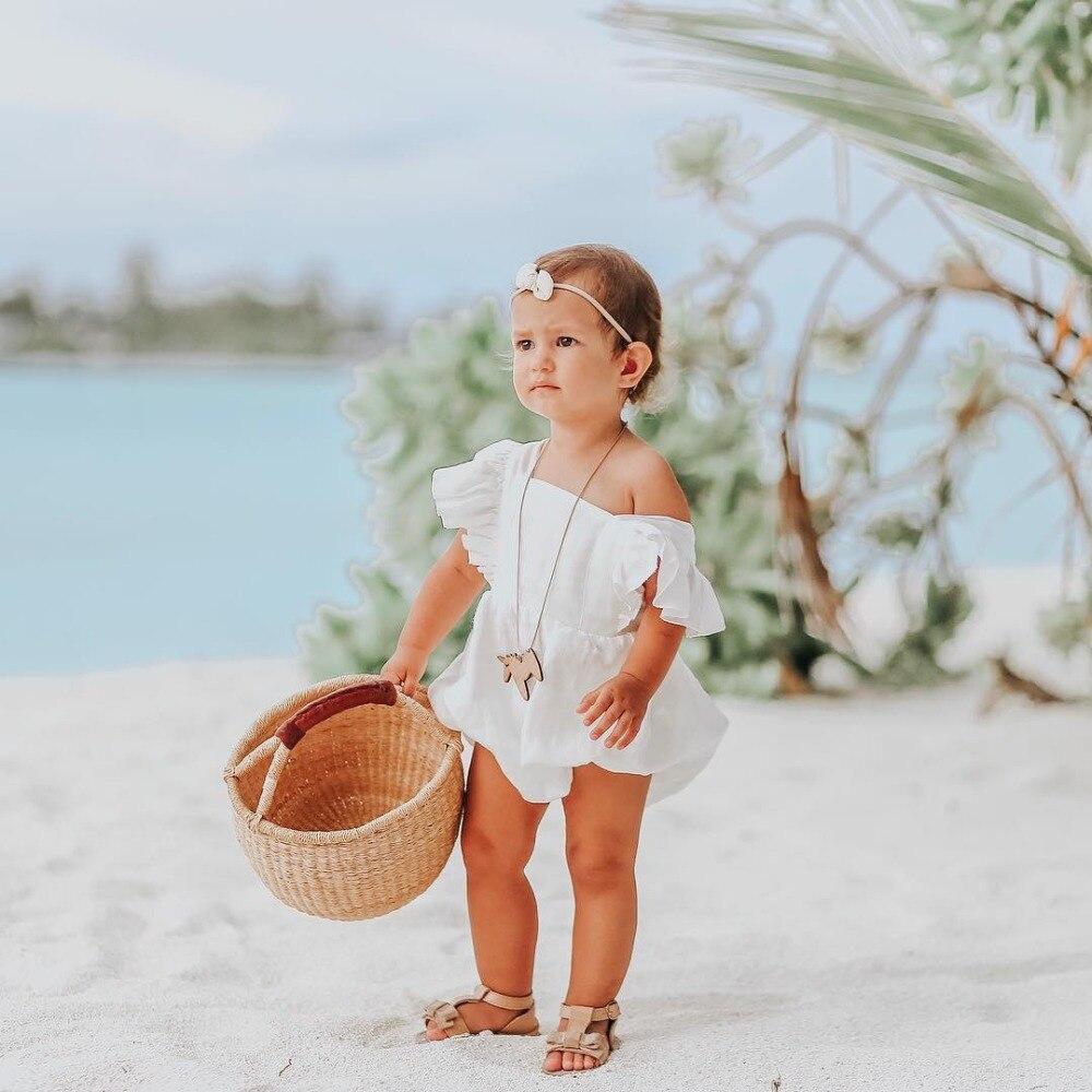 verão recém-nascido crianças sem mangas backcross menina