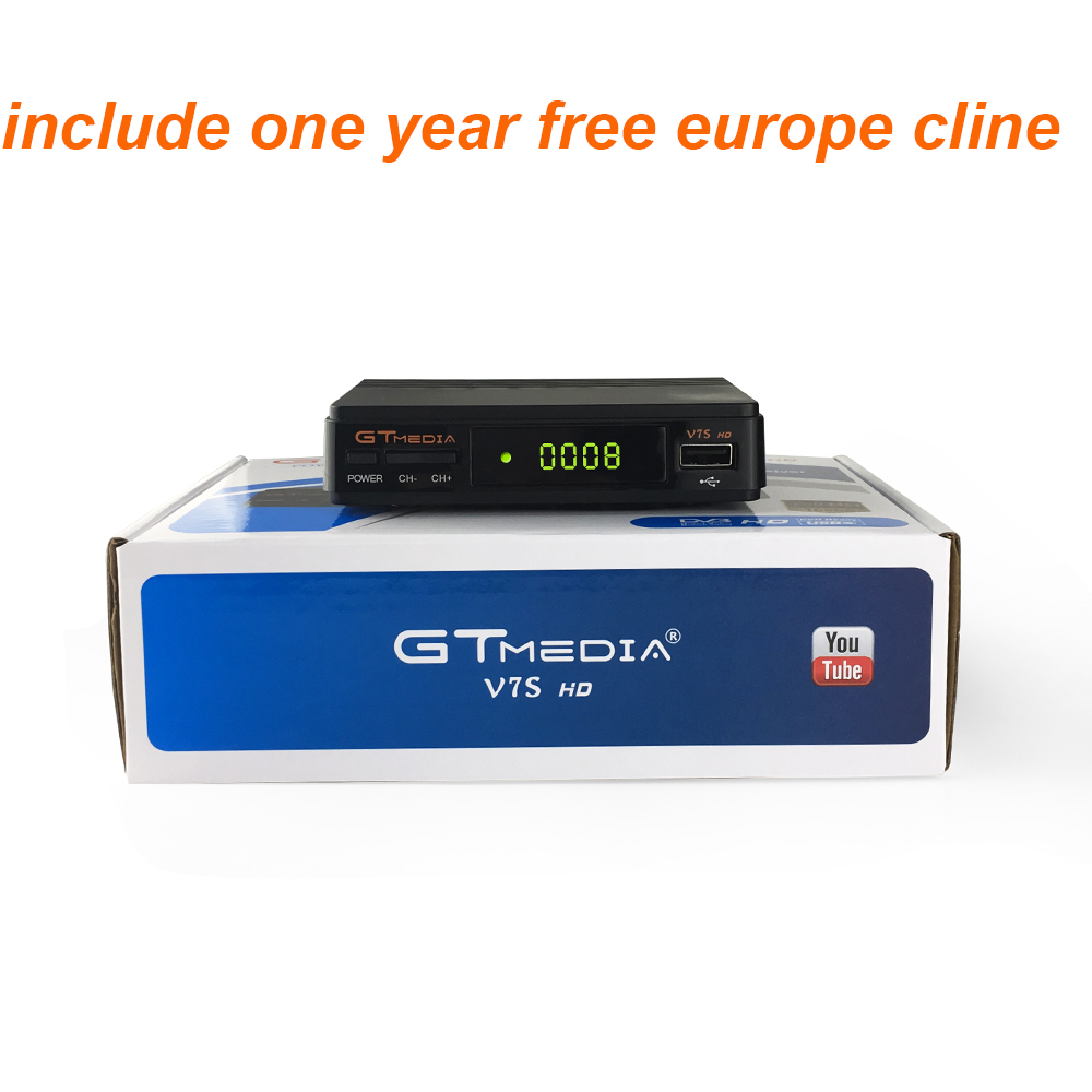 Hot Satellite TV Receiver GTMedia V7S HD Receptor Support Europe Cline for Spain DVB S2 Satellite
