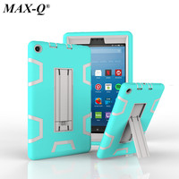 Kindle Fire HD 8 2017 Version Case Kids Safe Armor Shockproof Heavy Duty Silicone PC Kicktand