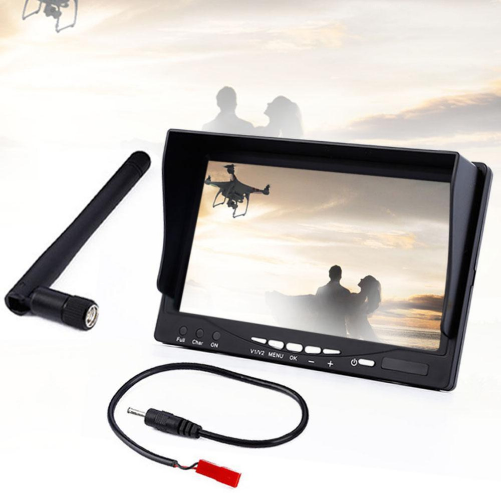 FPV Aerial 7 inch 5.8GHz 32 Channel Auto Search Display Monitor No Battery 7 inch aerial 16 9