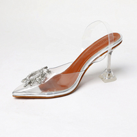 3cm/7cm/9cm Silver High Heels Sexy Pointed Toe High Heels Women Slingback Shoes Summer Party Dress Pumps Womens Shoes Heels
