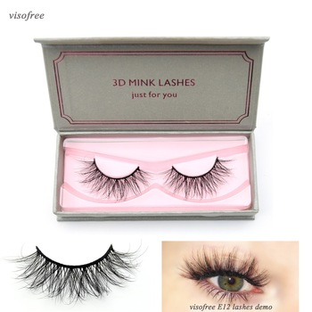 Visofree Lashes 3D Mink Eyelashes Dramatic Look and Feel False Eyelashes 100% Handmade & Cruelty-Free Reusable Mink Eyelashes 1