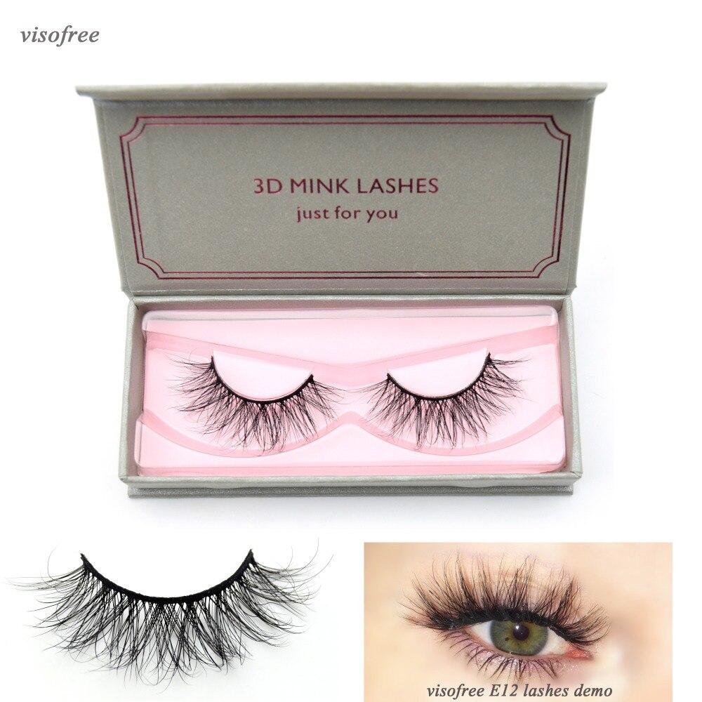 Visofree Lashes 3D Mink Eyelashes Dramatic Look And Feel False Eyelashes 100% Handmade & Cruelty-Free Reusable Mink Eyelashes
