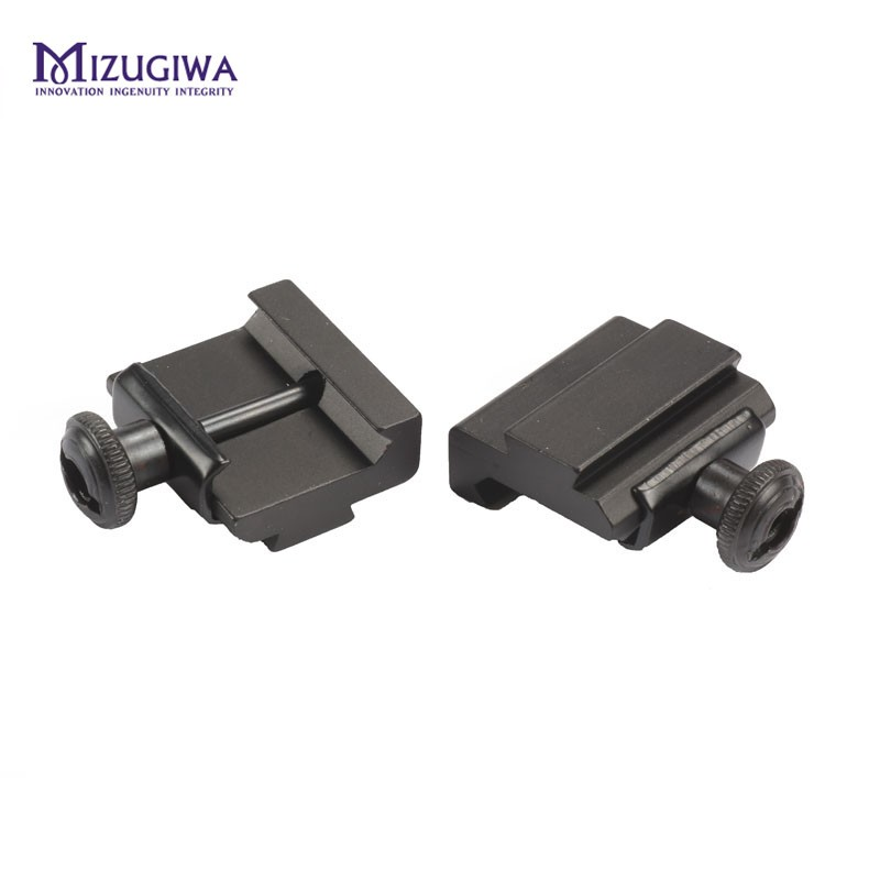 2Pcs/pair Hunting Scope Mount 20mm to 11mm Base Weaver Picatinny Rail To Dovetail Rail Adapter Base Caza unting Accessories
