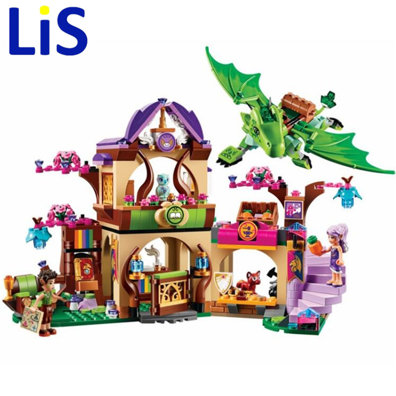 (Lis) 10504 694Pcs Friend Elves The Secret Market Place Model Building Kit figure Blocks Brick Compatible Girl Toy Gift бриджстоун дуэлер 694 в екатеринбурге