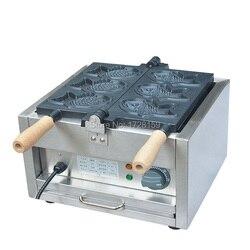 Commercial electric 3pcs fish taiyaki waffle making machine, electric fish waffle maker/taiyaki making machine