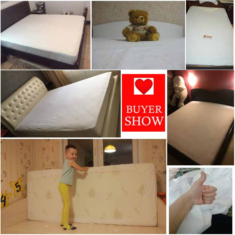 LFH Customized ALL Size Terry Waterproof mattress protector cover For Bed Wetting And Be ...