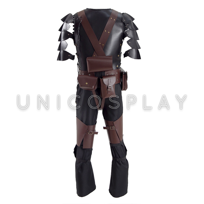aliexpresscom buy berserk guts armor cosplay costume halloween battle suit for man adult with cloak kneepads accessories full set from reliable costumes