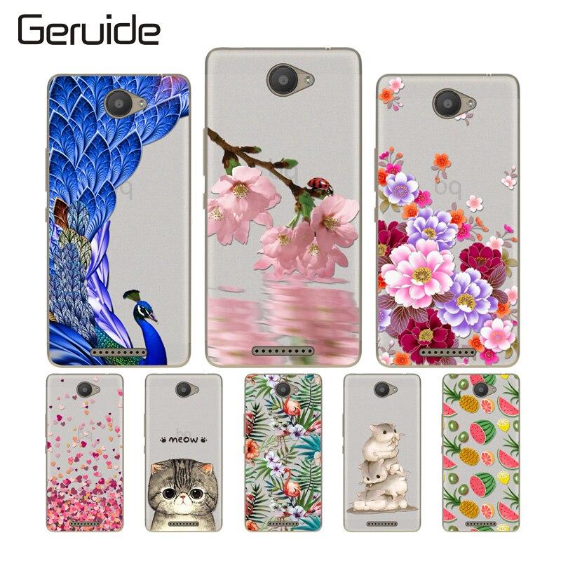 Geruide BQ Aquaris U / Lite 5.0 Case Cover, New Fashion Soft TPU Silicone Back Covers For Phone Cases