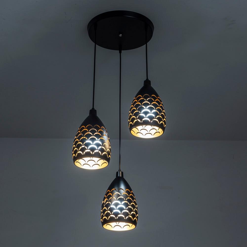 Novelty Loft Pendant Lighting Iron Hollow Out Pendant Lamp Living Room Restaurant Shop Bar Fixture Decoratio