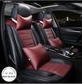 Brown / bege / vermelho luxo PU couro capa assento de carro e banco traseiro para toyota Corolla camry vios carro honda civic accord crv
