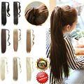 ГОРЯЧИЙ Продавать 24 inch 60 см 120 г/шт. Моды Кос Ponytail Шиньоны Прямо Синтетический Хвост Наращивание Волос 20 цвета доступна