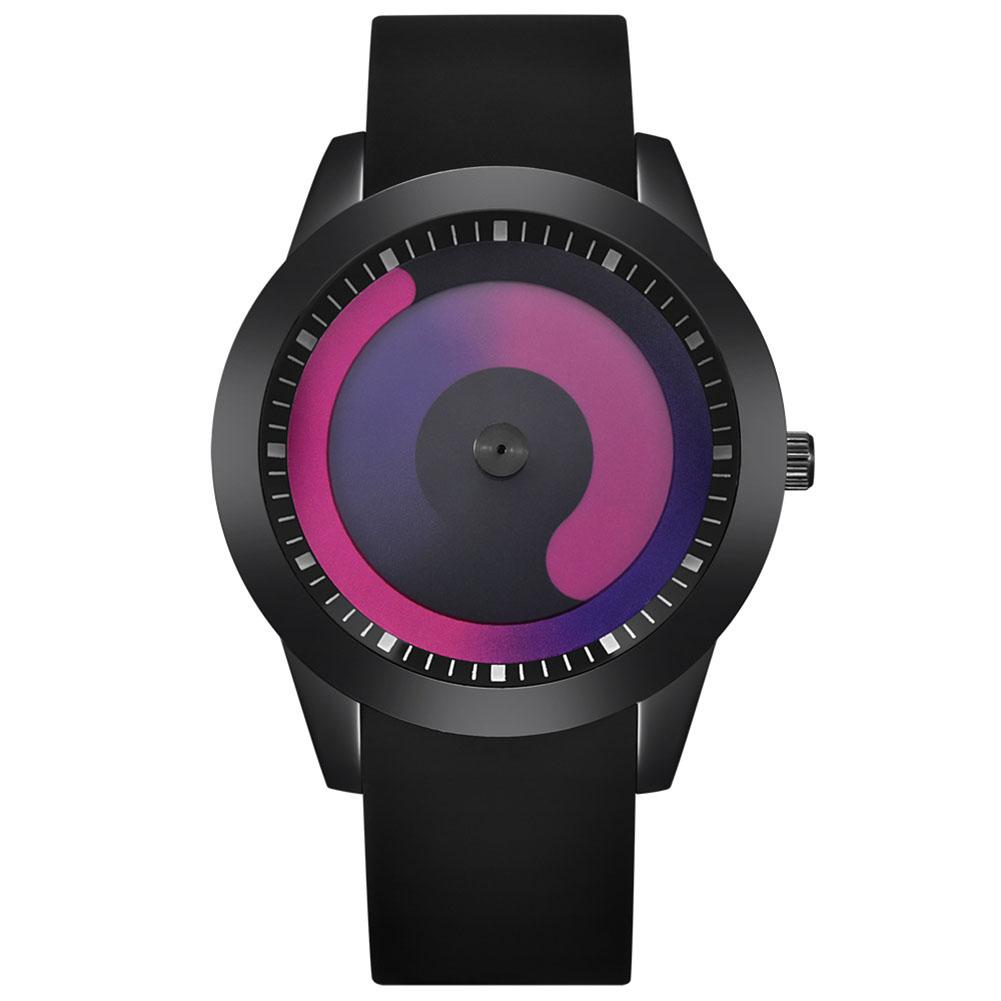 Creative Women Men Gradient Flow Analog Round Dial Quartz Wrist Watch Lover  Gift Relogio Feminino 2019