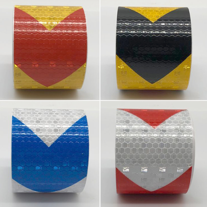50mm Width  Colors Arrow Pattern Mesh Reflective Ribbon Car Sticker Automotive Style Vehicle Truck Motorcycle Warning Tape