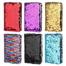 Creative Sequins Notebook Notepad Glitter Diary Memos Stationery Office Supplies Stationery 78 Sheets retro pirate leather metal pendant loose leaf 80 sheets notebooks creative navigation style business gift notepad daily memos