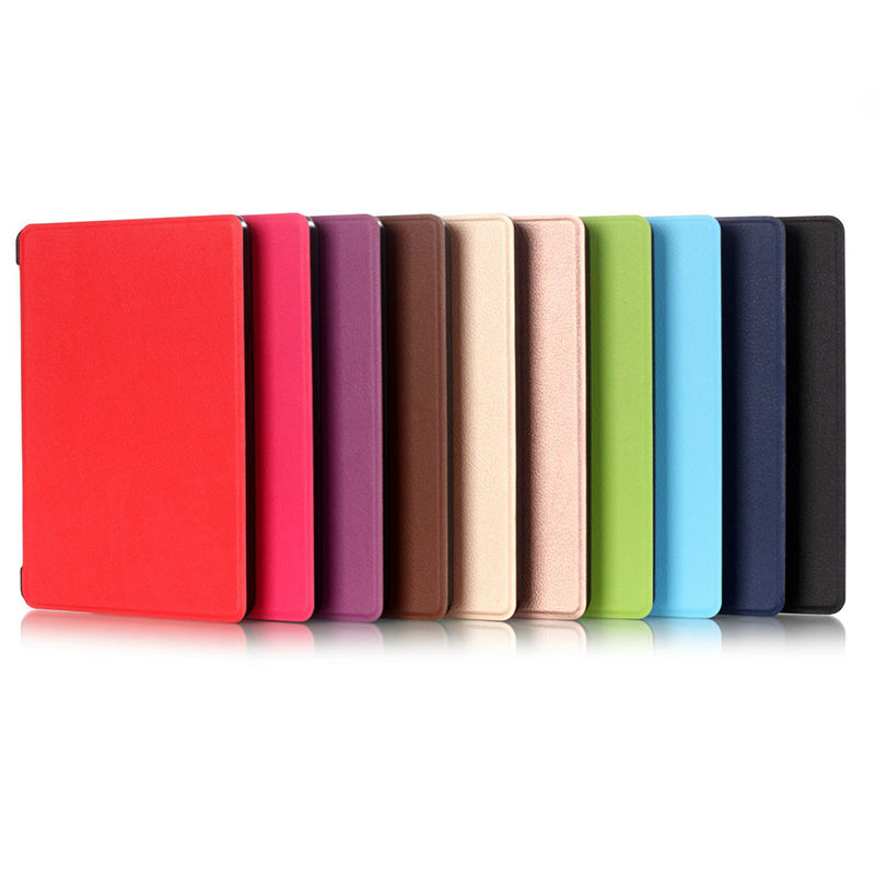 Smart Slim Magnetic Case Cover For Amazon New Kindle 2014 Version 6 Inch Ereader E-Books Tablet Cases PU Leather Flip Cover Pen ultra slim protective pu flip open smart case for amazon kindle paper white brown