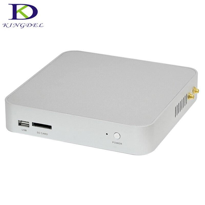 2017 Mini Pc Desktop Core I3 5005U Dual Core With Small Fan,HDMI,VGA,USB 3.0, Home Computer  Mini PC TV BOX Alloy Case
