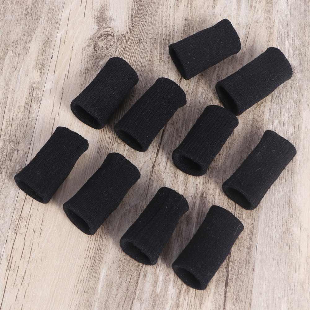 10 шт. волейбольный палец Sweatband эластичный палец протектор рукав артрит поддержка спортивный аксессуар