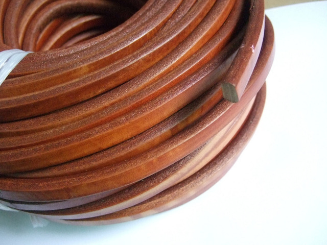 1 Yard 10x6mm Camel Color Genuine Real Licorice Leather Jewelry Cord For Bangle Bracelet Making