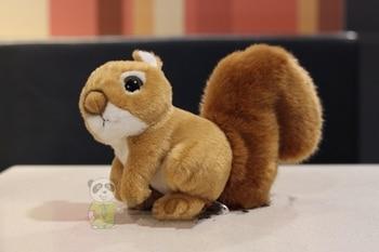 Squirrel figurine squirrel plush toy big tail squirrel plush toy cute 18cm фото