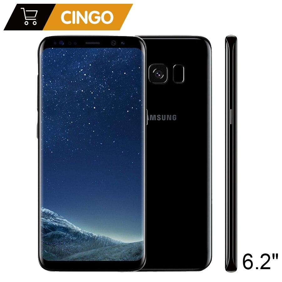 Originais Samsung Galaxy S8 Plus SM-G955F 64 4 gb RAM gb ROM 6.2 Único Sim Núcleo octa Android Impressão Digital 12MP 3500 mah S-série